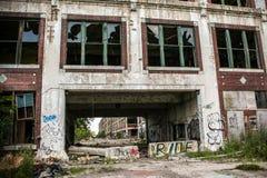被放弃的帕卡德工厂1 免版税库存照片