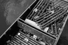 被放弃的平底船 图库摄影