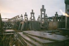 被放弃的废墟 免版税库存照片