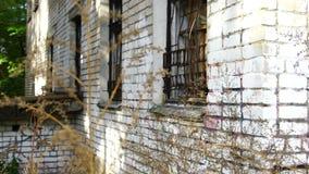 被放弃的建筑结构房子家工厂warhouse POV,恐怖背景 股票录像
