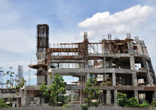 被放弃的建筑结构 库存照片
