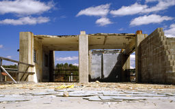 被放弃的建造场所 库存图片