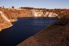 被放弃的开矿 免版税库存图片