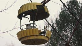 被放弃的弗累斯大转轮的汽车,在切尔诺贝利中,Pripyat,乌克兰 影视素材