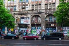 被放弃的戏院在柏林克罗伊茨贝格,德国 免版税库存照片
