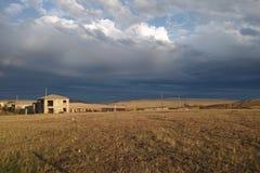 被放弃的房子。Kachetia,乔治亚 免版税库存照片