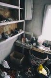被放弃的房子在Pripyat 库存照片