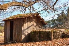 被放弃的房子场面小的木头 免版税图库摄影