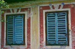 被放弃的房子细节  免版税库存照片
