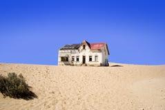 被放弃的房子kolmanskop老纳米比亚 库存照片