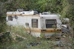 被放弃的拖车 库存图片