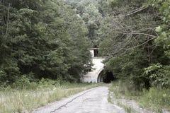 被放弃的收费公路隧道 库存图片