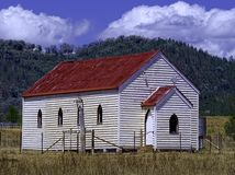 被放弃的教会在农村澳大利亚 免版税库存照片