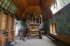 被放弃的教堂 库存照片