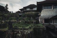 被放弃的旅馆在巴厘岛 库存照片