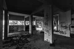 被放弃的旅馆在Barcarena 库存图片
