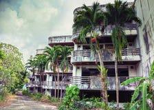 被放弃的旅馆 库存图片