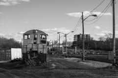被放弃的有轨机动车 免版税图库摄影