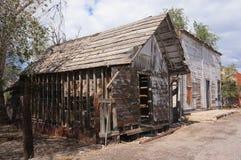被放弃的木大厦,犹他。 免版税库存图片