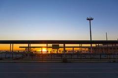 被放弃的机场 免版税库存照片
