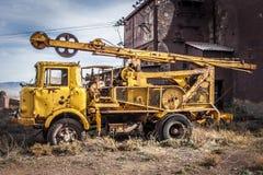 被放弃的机械阿尔基费矿 免版税图库摄影