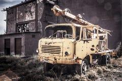 被放弃的机械阿尔基费矿 免版税库存照片