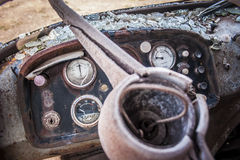 被放弃的机械阿尔基费矿 库存照片