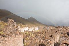 被放弃的村庄圣安东尼奥de Lipez,玻利维亚 图库摄影