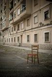 被放弃的椅子 库存图片