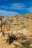 被放弃的沙漠homesite 免版税库存照片