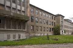 被放弃的海军学院在Wustrow 免版税库存照片