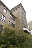 被放弃的海军学院在Wustrow 免版税库存图片