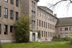 被放弃的海军学院在Wustrow 库存图片