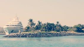 被放弃的海岛 库存图片