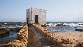 被放弃的海滩 库存图片