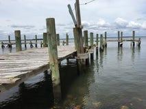 被放弃的海dock2 免版税库存图片