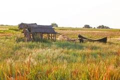 被放弃的渔村 库存图片