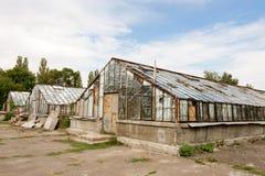 被放弃的温室 免版税库存图片