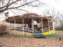 被放弃的游乐园 库存图片