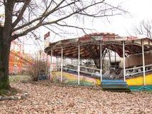 被放弃的游乐园 免版税库存照片