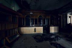 被放弃的火车站大厅-布朗斯维尔,宾夕法尼亚 免版税图库摄影