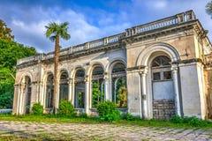 被放弃的火车站,阿布哈兹 图库摄影