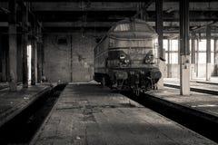 被放弃的火车站 免版税库存照片
