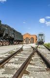 被放弃的火车站 免版税库存图片