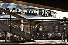被放弃的火车站 库存图片