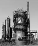 被放弃的煤气厂 库存照片