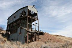 被放弃的煤矿 免版税库存照片