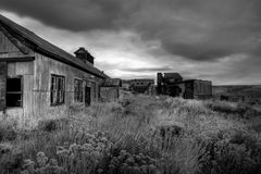 被放弃的煤矿 库存图片