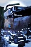 被放弃的熔炼厂 库存照片