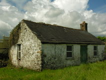 被放弃的爱尔兰村庄 免版税库存照片